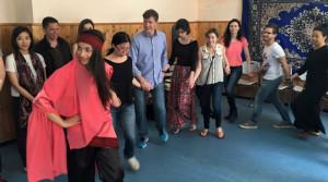 "Ramallah Tour - Graduate students from Georgetown University learning the Palestinian ""Dabka"" dance."
