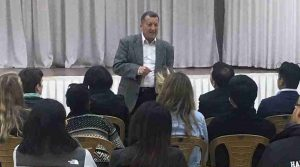 Students enjoy lecture on the conflict with Dr. Nafez Nazzal.