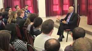 Ramallah Tour - Graduate students from NYU meeting with Major General Jibril Rajoub.