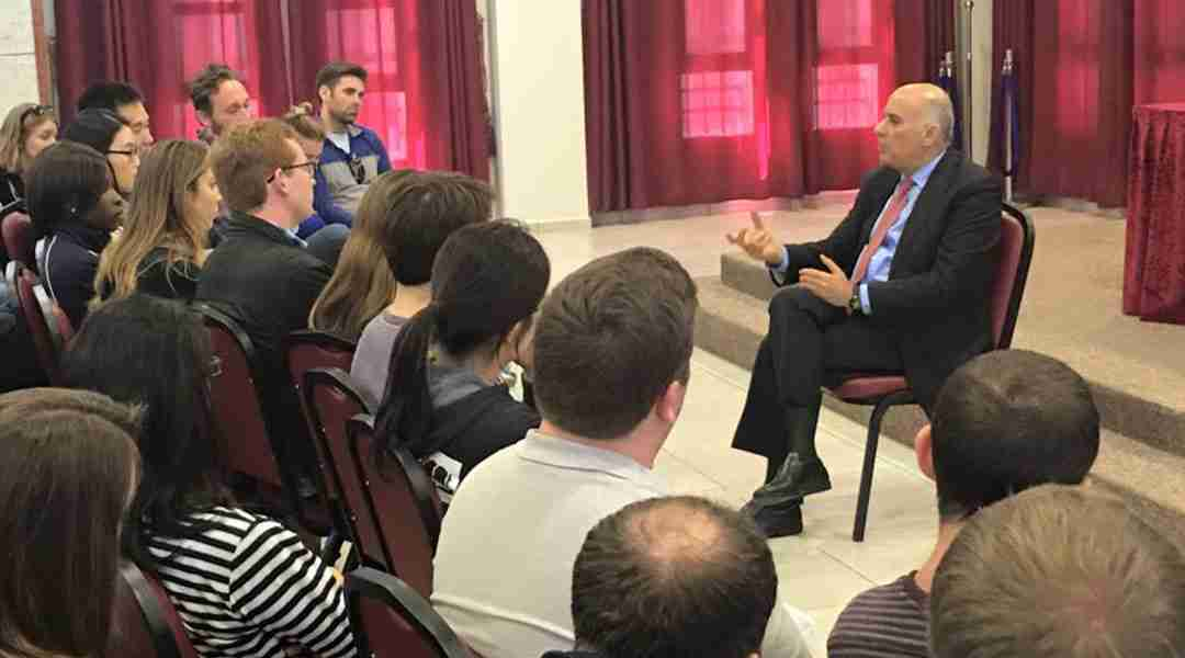 Ramallah Tour - Graduate students from NYU meeting with Major General Jibril Rajoub.