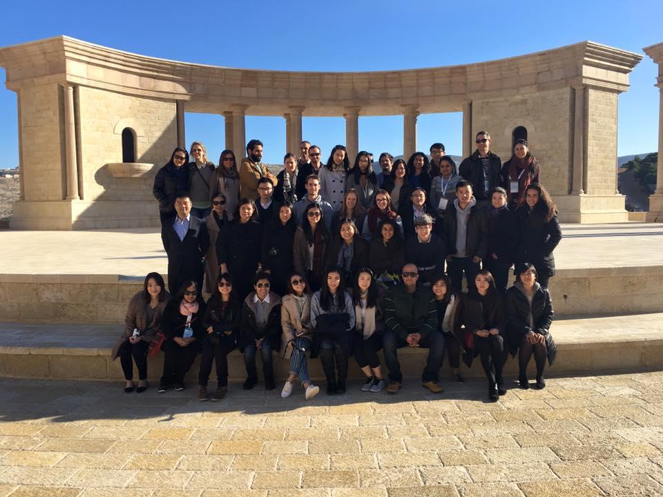 Students enjoy a Ramallah Tour